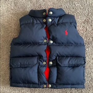 Gently worn boys Ralph Lauren Reversible vest.